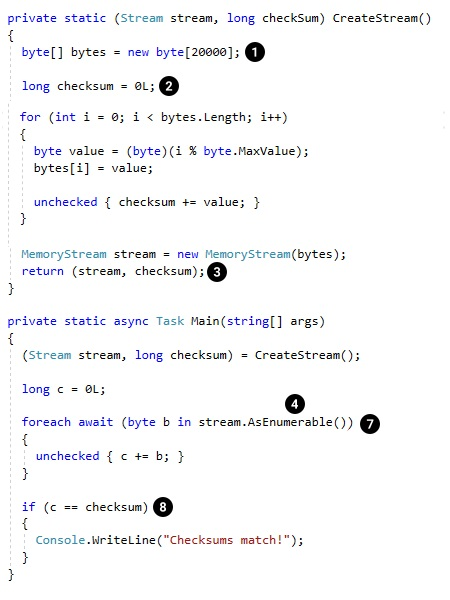 Async Streams in C# 8