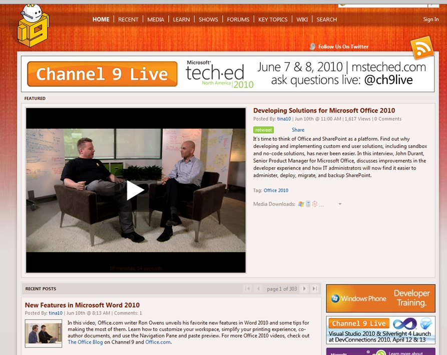 Moving Channel9 msdn com to Windows Azure
