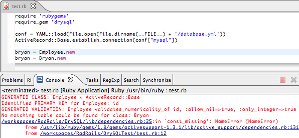 ORM with DrySQL and ActiveRecord