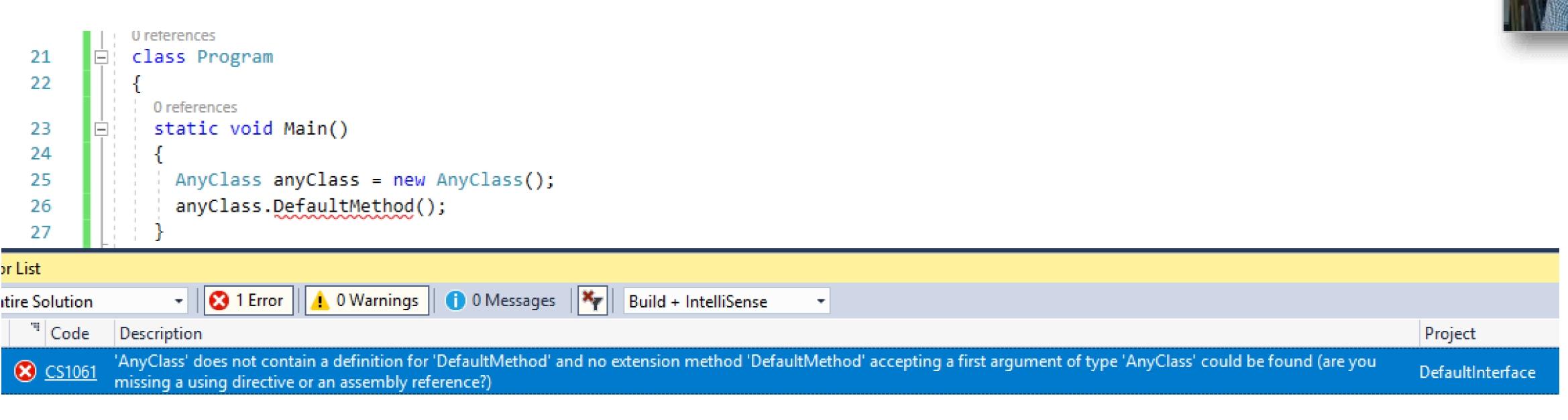 Default Interface Methods in C# 8