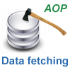 Fetching strategy implementation in a J2EE application using AOP