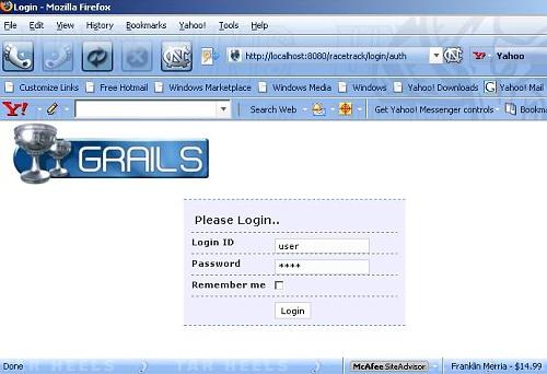 图 14 —— 以一个用户身份登录