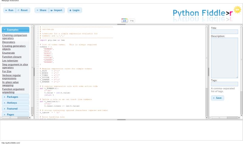 Python Fiddle