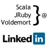 LinkedIn Signal: A Case Study for Scala, JRuby and Voldemort