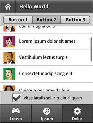 Flex 4.5に搭載されているモバイルコンポーネントスキンの例