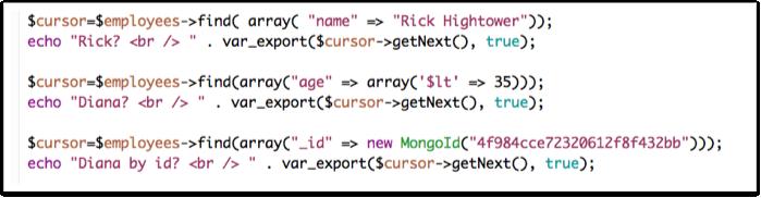 PHP, MongoDB