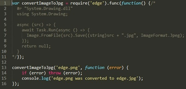 Run  NET and Node js code in-process with Edge js