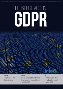 The InfoQ eMag: Perspectives on GDPR