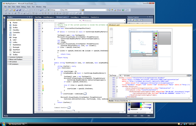 Visual Studio 2010 UI Floating Documents