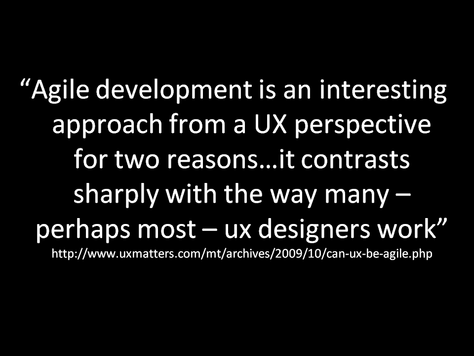 UX and Agile contrast