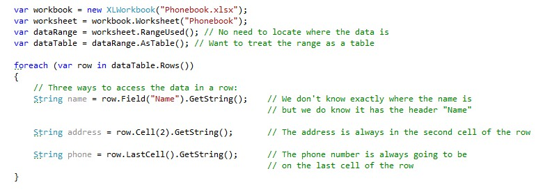 Making OpenXML Easy with ClosedXML
