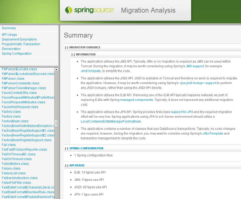 Spring Migration Analyzer: An Assistant For JavaEE To Spring