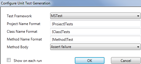 Visual Studio Unit Test Generator with MSTest, NUnit, XUnit Support
