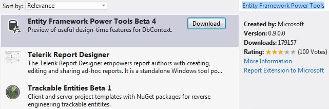 Entity Framework Power Tools Beta 4 Adds EF 6 and Visual