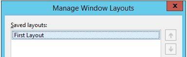 Manage Window Layouts dialog