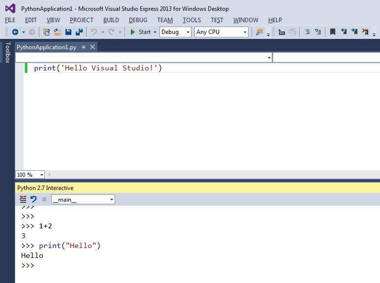 Python... in Visual Studio