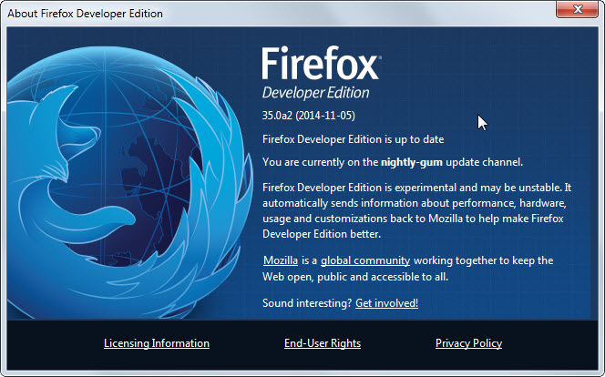 Mozilla Quiet Ahead of Firefox Developer Edition Launch
