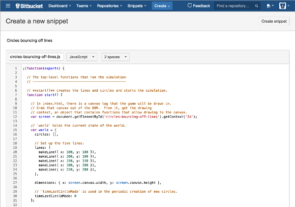 Bitbucket Snippets Editor