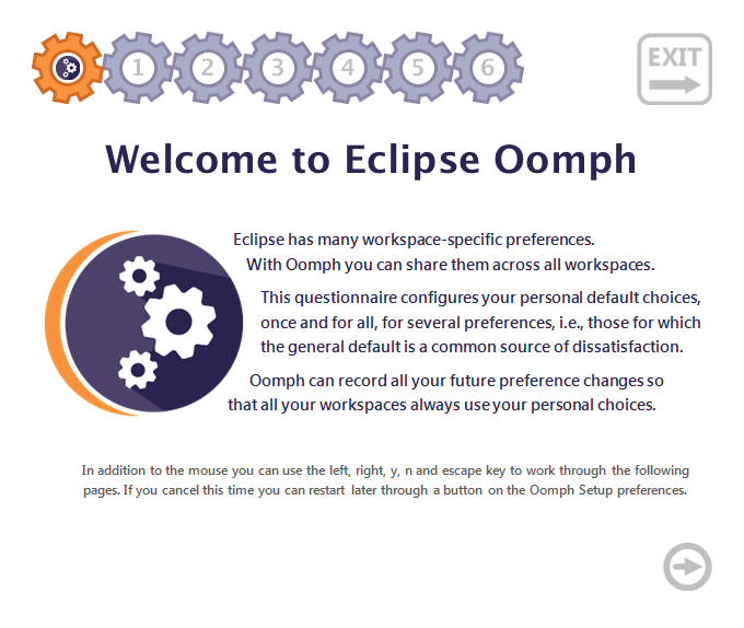 Screenshot showing Eclipse Oomph setup tasks
