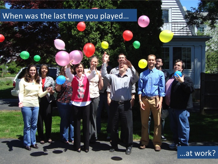 When was the last time you played at work?