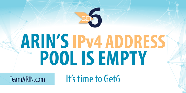 ARIN's IPv4 address pool is empty