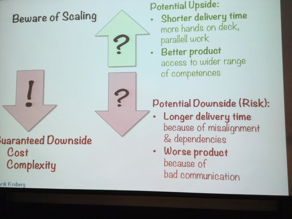 Risks of Scaling Agile