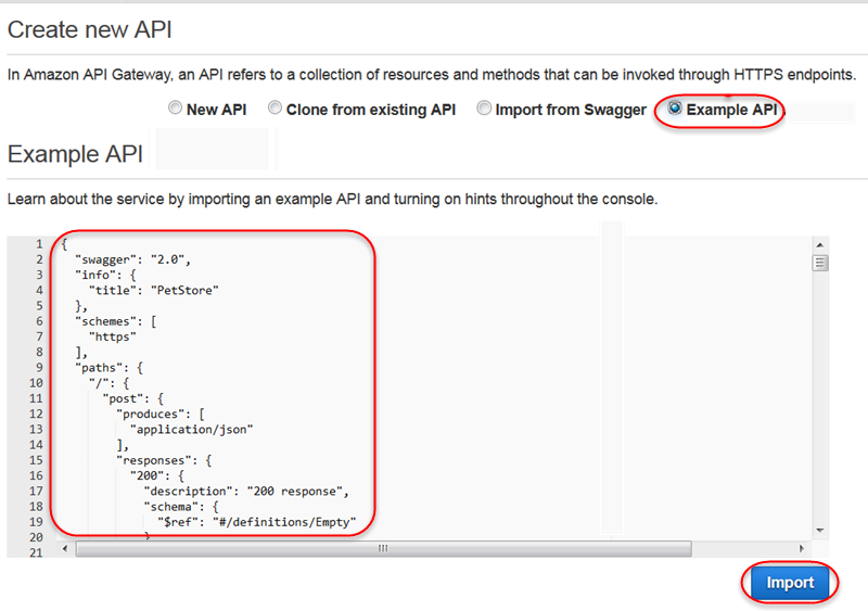 Amazon API Gateway Now Supports Swagger Definition Import
