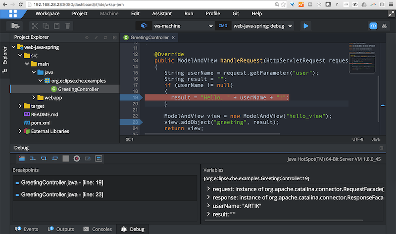 Screenshot of Artik Cloud IDE