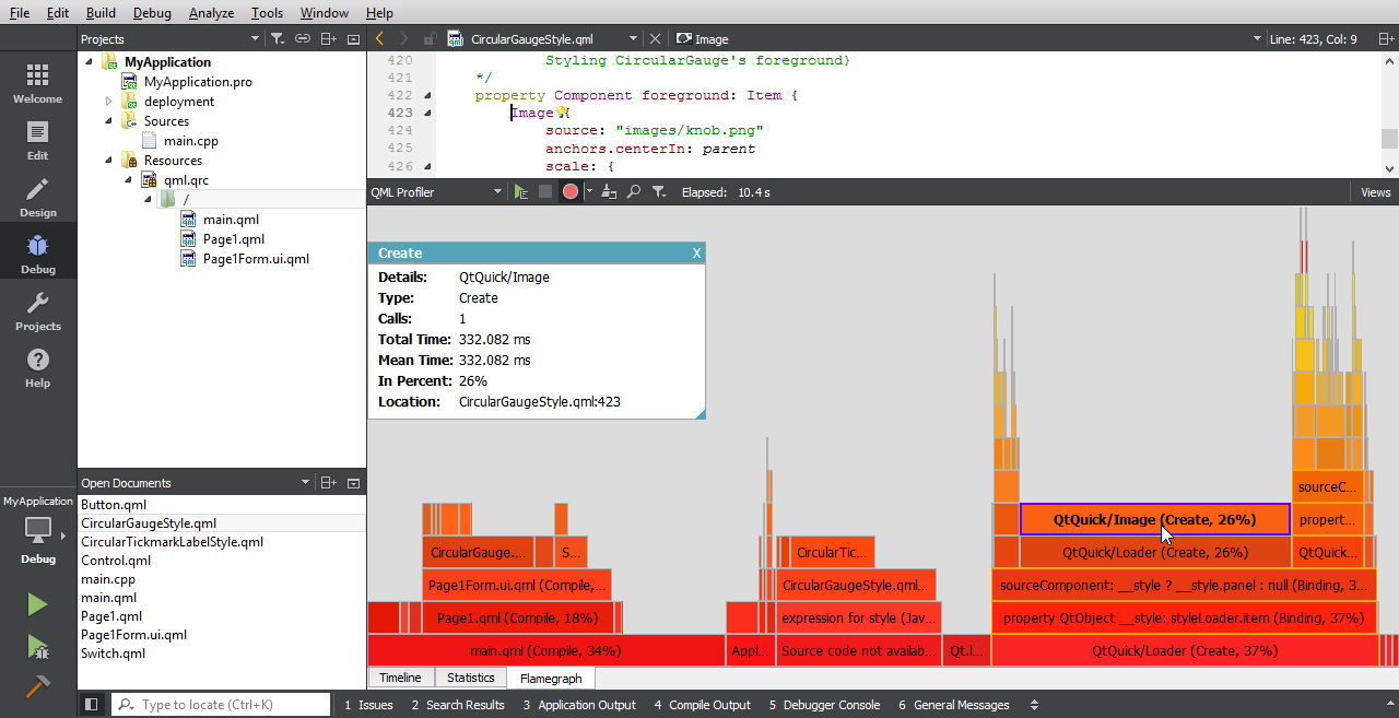 New Theme and QML Flame Graph