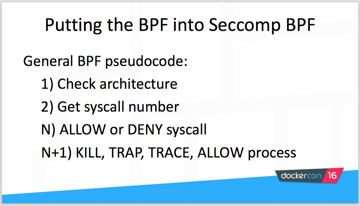 Putting the BPF in seccomp-bpf