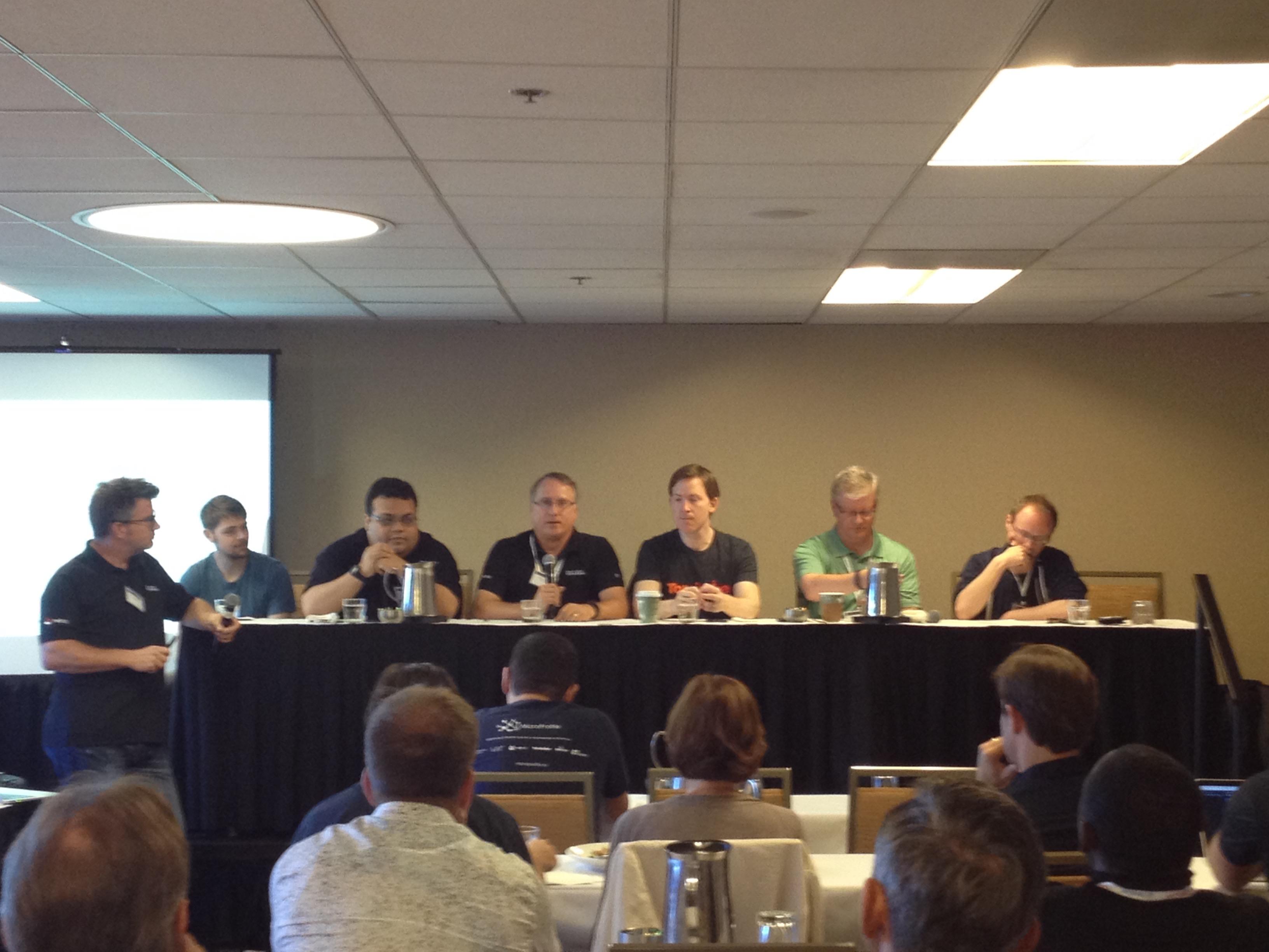 Members of the Microprofile panel held during JavaOne