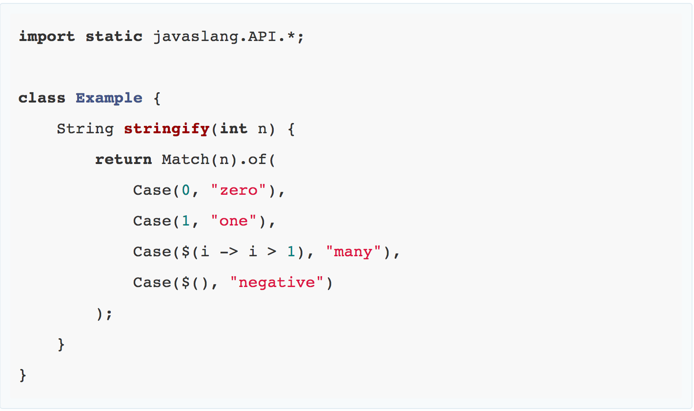 Javaslang pattern-matching example