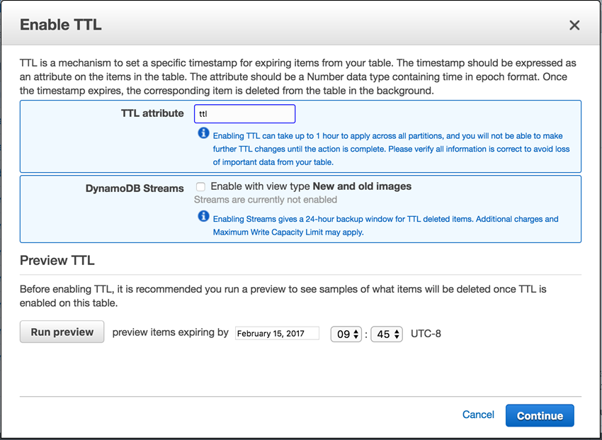 Amazon Adds Time to Live (TTL) Support to AWS DynamoDB