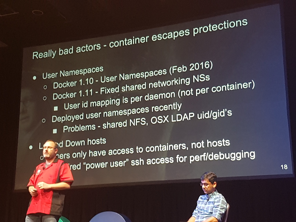 Docker container escape protection