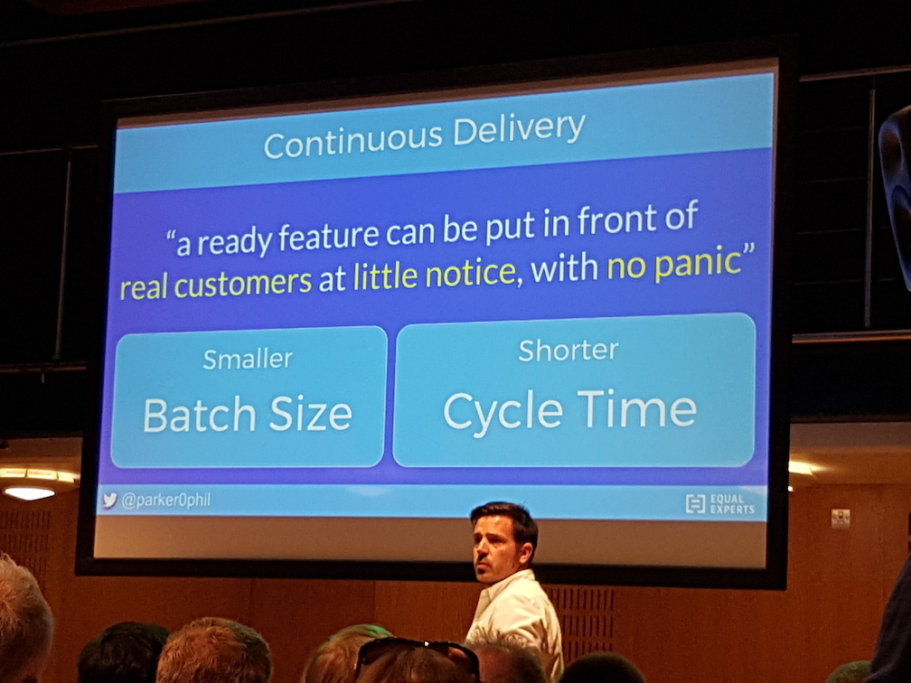 Organising for continuous delivery