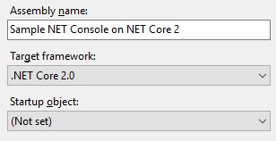 Targeting specific .NET Core framework
