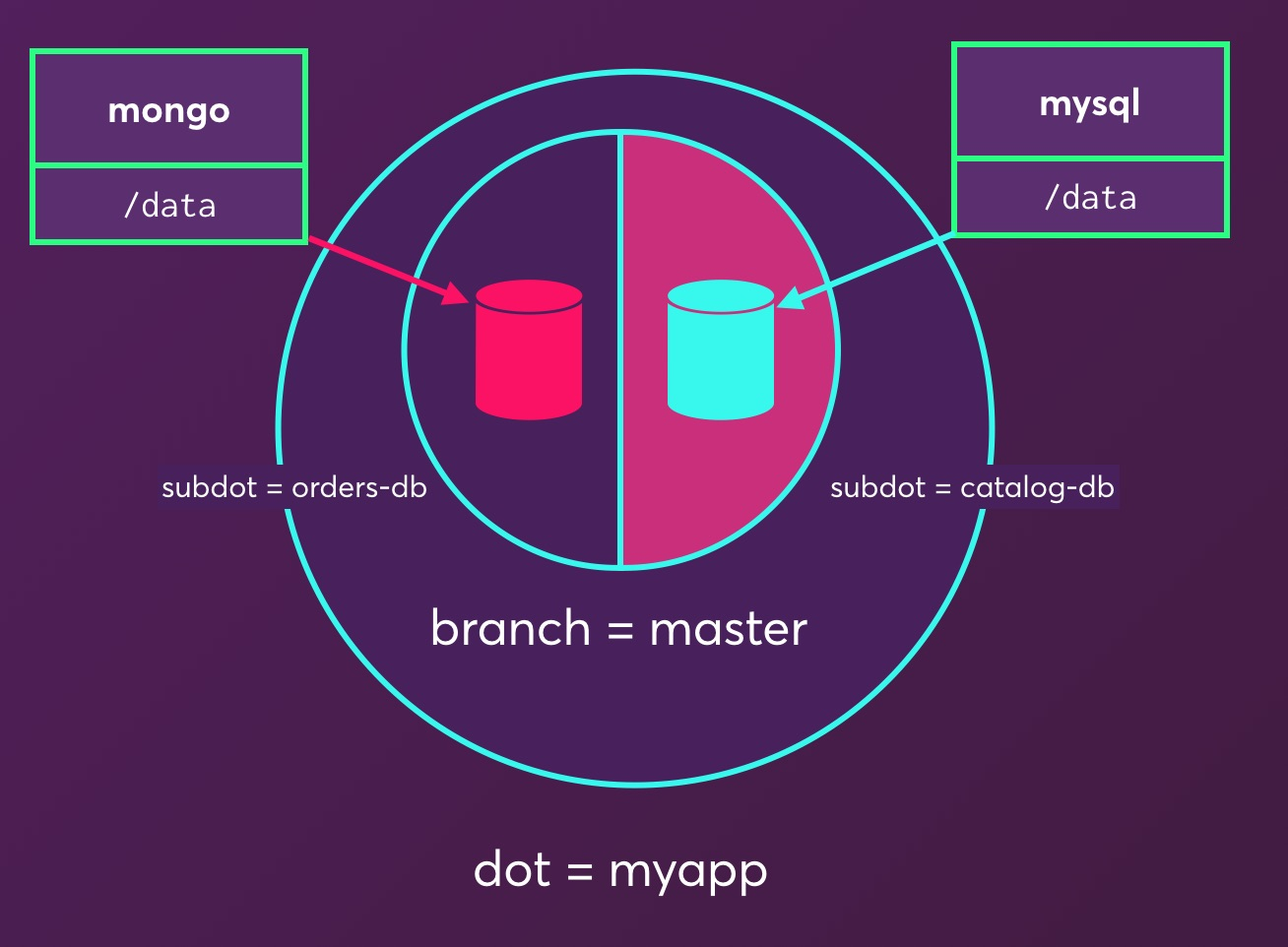 What is a datadot within dotmesh