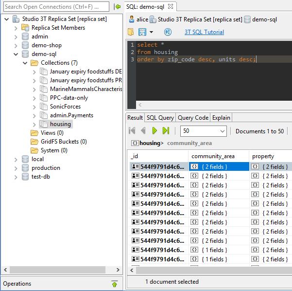 Studio 3T: SQL Exploration for MongoDB