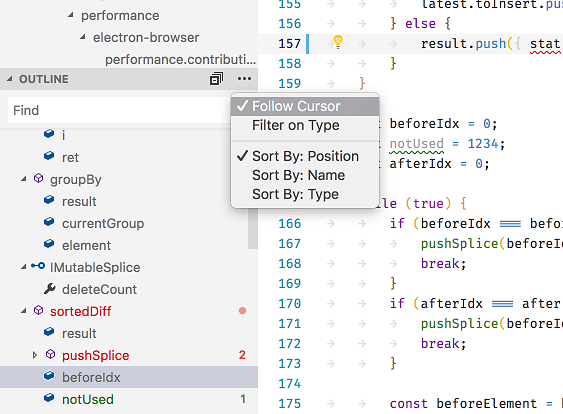 Visual Studio Code 1 25 Sports New Grid Layout and Outline View