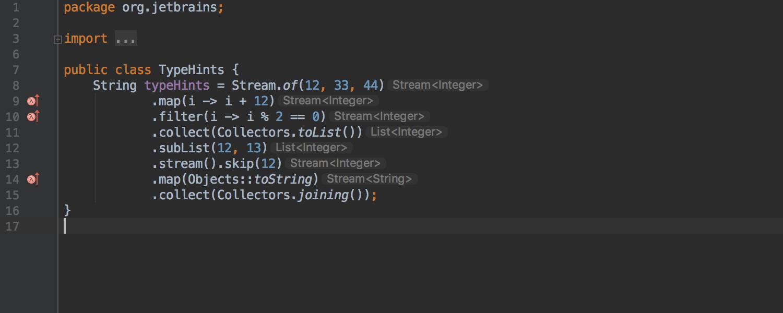 Jetbrains libera o intellij idea 20182 agora o intellij exibe os tipos para cadeias longas de mtodos isso pode ser til para desenvolvedores que desejam visualizar o tipo de cada chamada em ccuart Choice Image