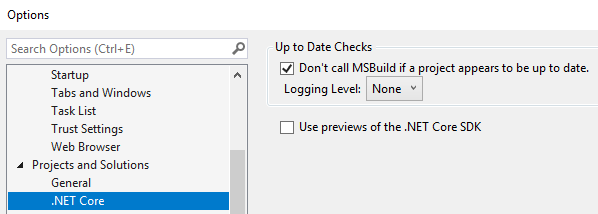 VS2017 SettingsDialog