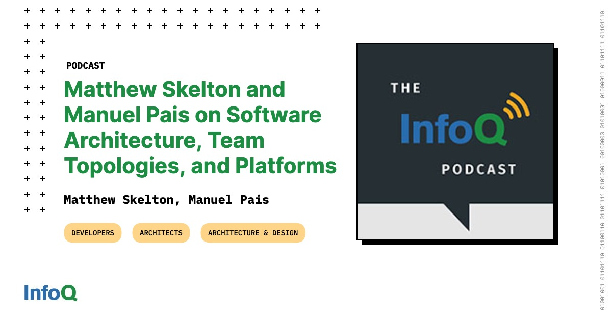 Matthew Skelton and Manuel Pais on Software Architecture, Team Topologies, and Platforms