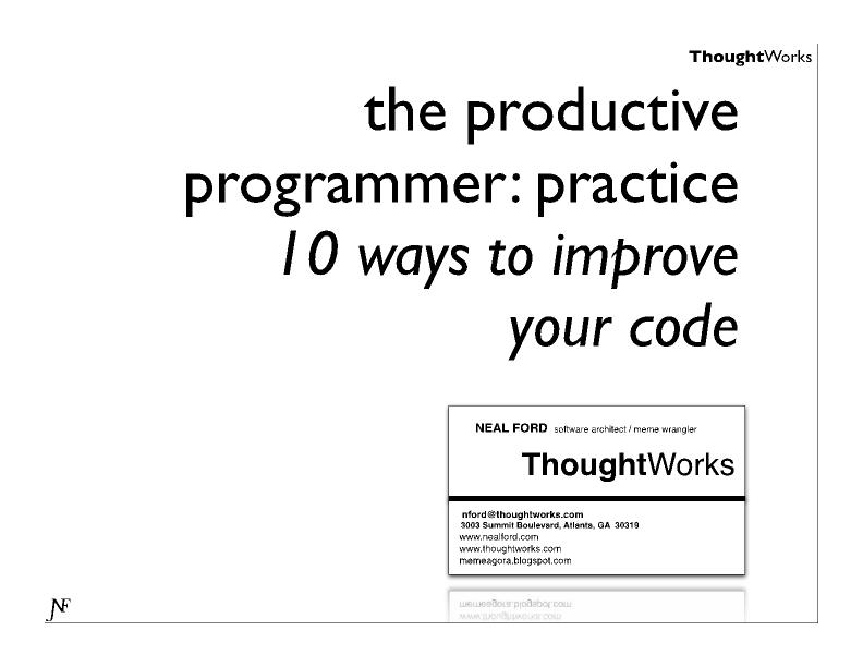 10 Ways to Improve Your Code