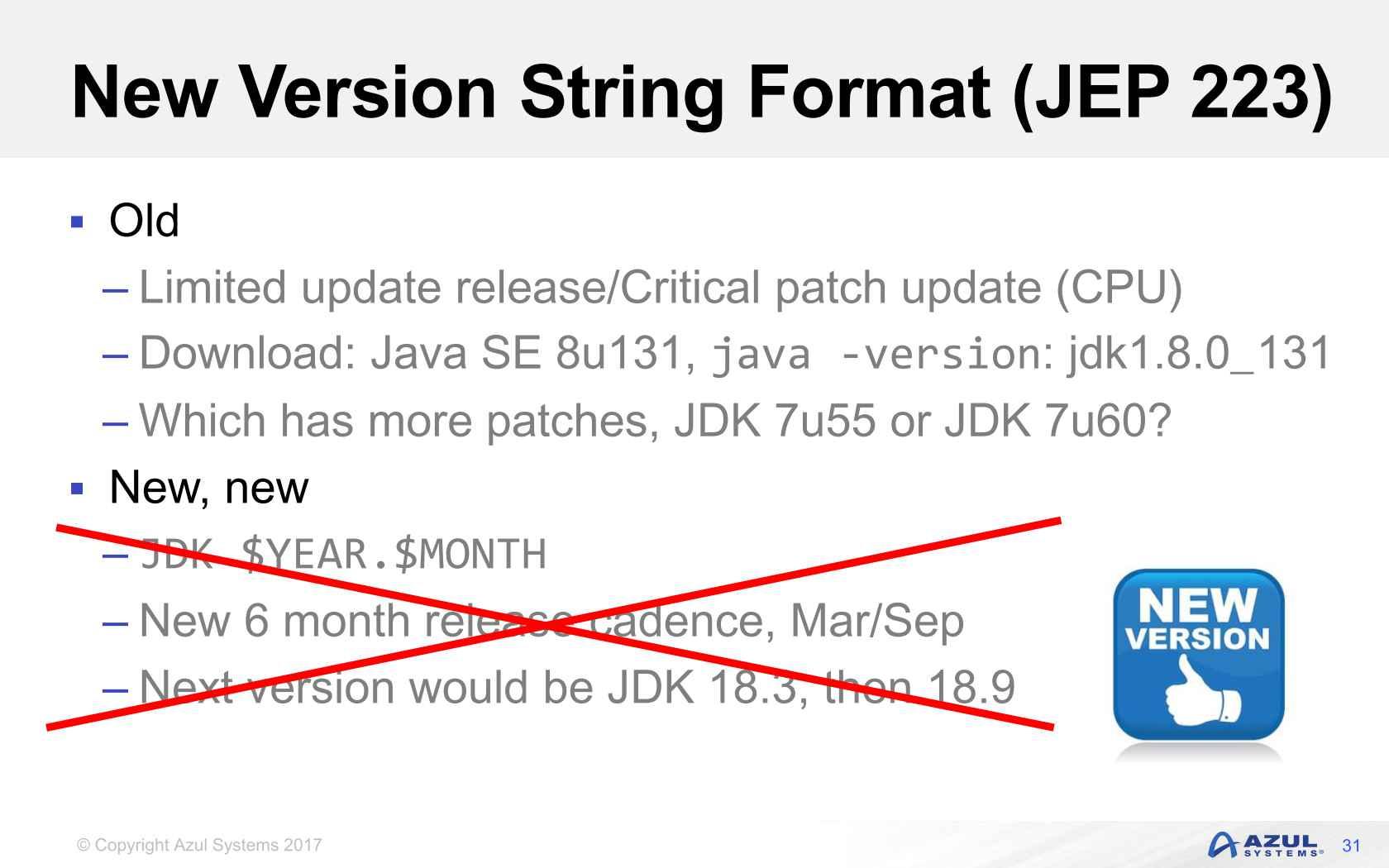 Java 8 Update 31