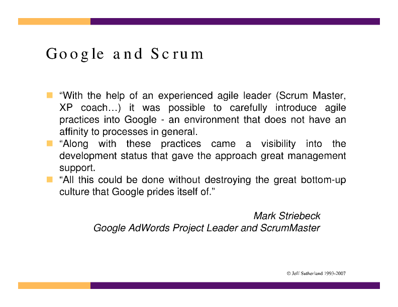 Agile Project Management: Lessons Learned at Google