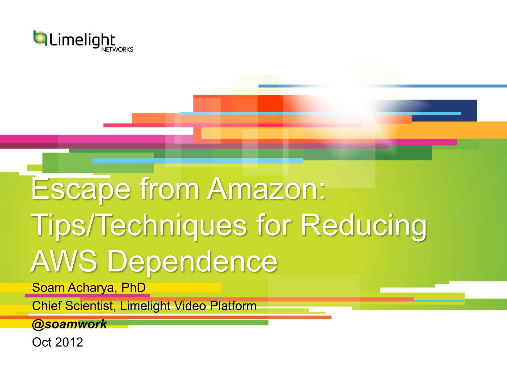 Escape From Amazon: Tips/Techniques for Reducing AWS