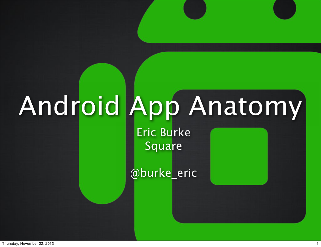 Android App Anatomy