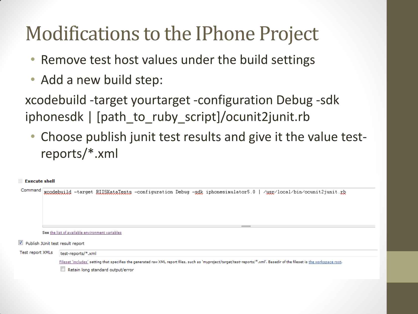 Continuous Integration for Mobile