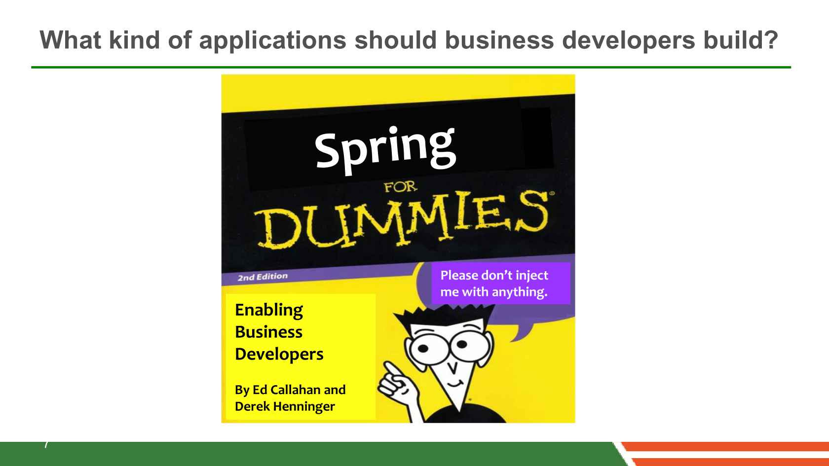 Spring for Dummies