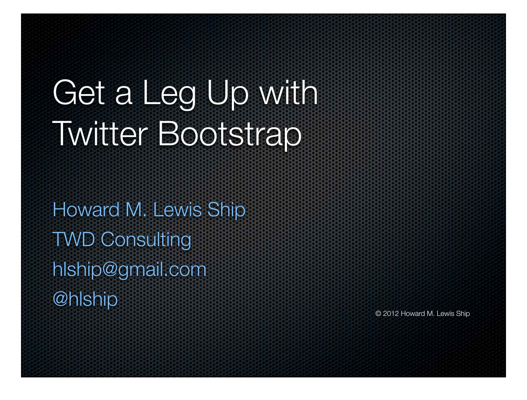 Get A Leg Up With Twitter Bootstrap